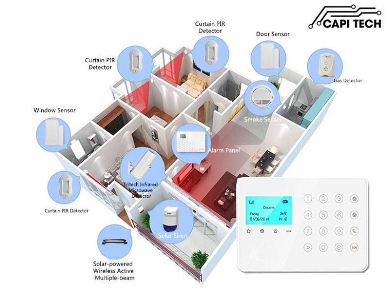 Hệ thống cảnh báo an ninh trong nhà khá được ưa thích tại CapiTech